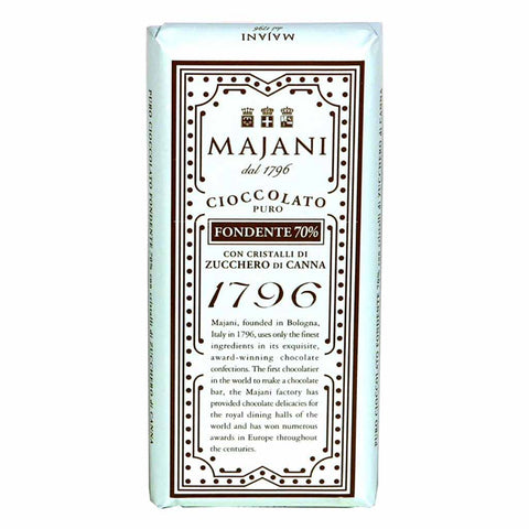 Majani 1796 70% Dark Chocolate Bar with Sugar Crystals 3.3 oz. (100g)