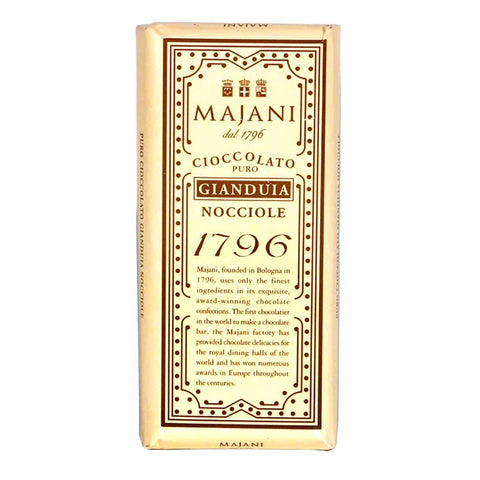Majani 1796 Milk Chocolate and Hazelnut Bar 3.5 oz. (100g)