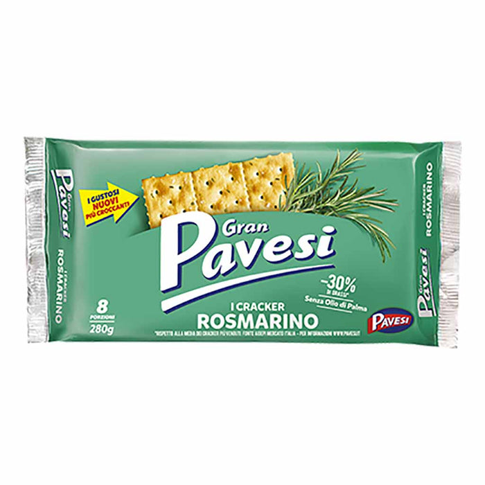 Gran Pavesi Rosemary Crackers 9.8 oz. (280g)