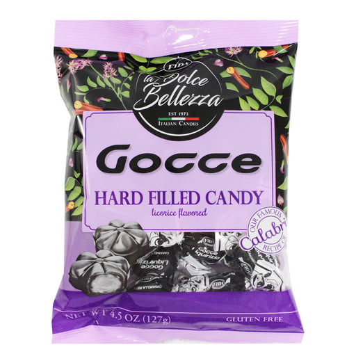 Fida Gocce Hard Filled Licorice Candies 4.5 oz. (127g)