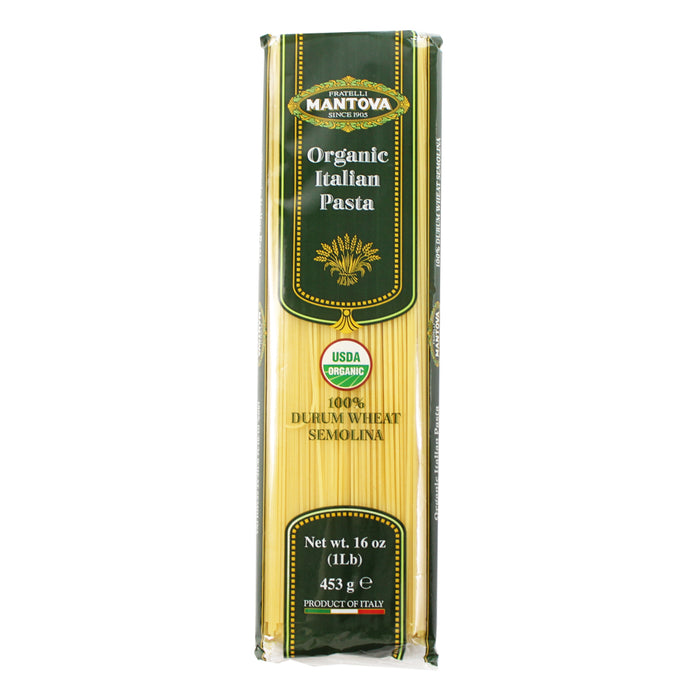 Mantova Organic Italian Angel Hair 16 oz. (453g)
