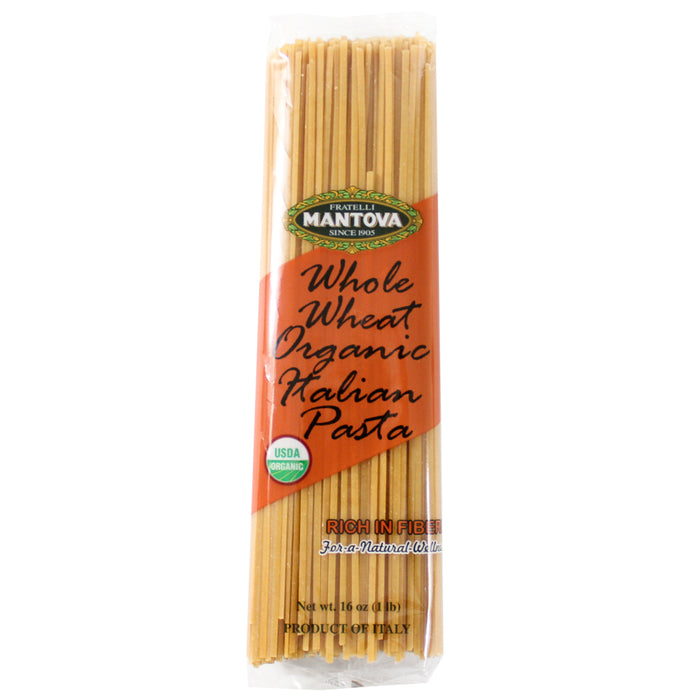 Mantova Organic Italian Whole Wheat Linguine 16 oz. (453g)