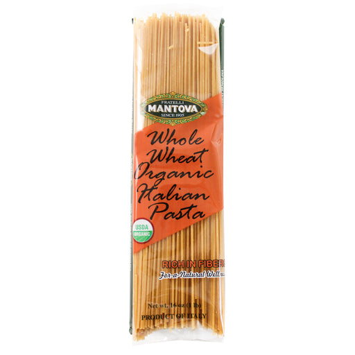 Mantova Organic Italian Whole Wheat Spaghetti 16 oz. (453g)