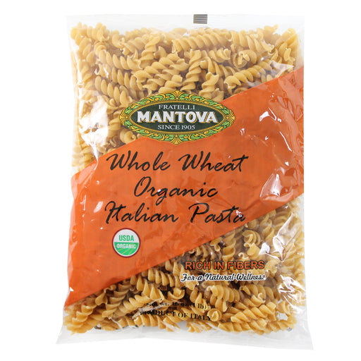 Mantova Organic Italian Whole Wheat Spirali 16 oz. (453g)