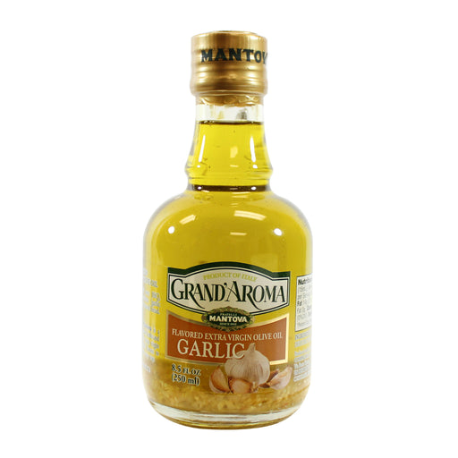 Mantova Grand'Aroma EVOO with Minced Garlic 8.5 fl oz.