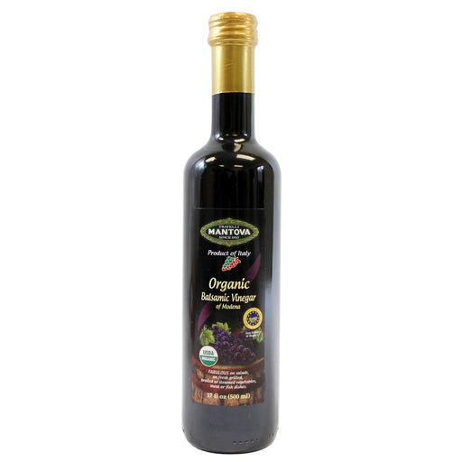 Mantova Organic Balsamic Vinegar of Modena 17 fl oz. (500ml)