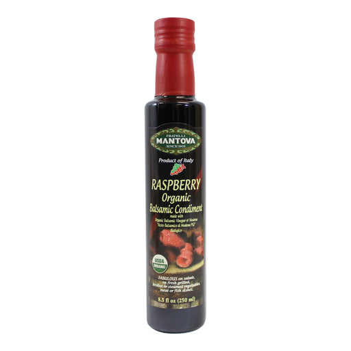 Mantova Italian Organic Raspberry Balsamic Vinegar 8.5 fl oz. (250ml)