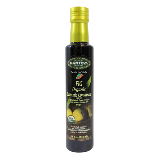 Mantova Italian Organic Fig Balsamic Vinegar 8.5 fl oz. (250ml)