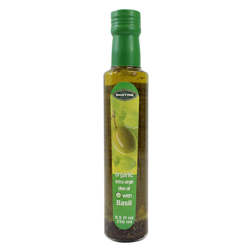 Mantova Organic Basil Extra Virgin Olive Oil 8.5 fl oz. (250ml)