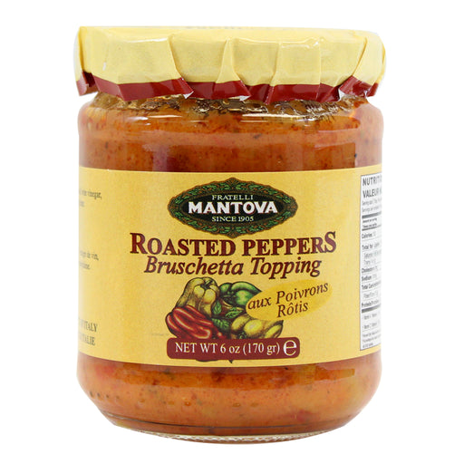Mantova Roasted Peppers Bruschetta Topping 6 oz. (170g)