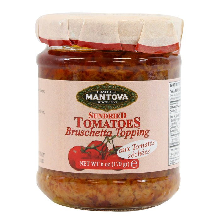 Mantova Sundried Tomato Bruschetta Topping 6 oz. (170g)