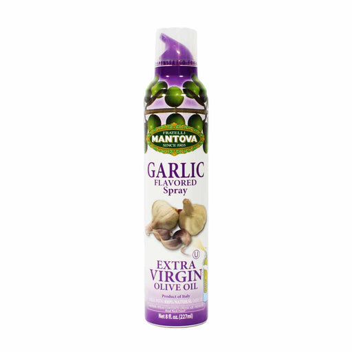 Mantova Italian Garlic Flavored Extra Virgin Olive Oil Spray 8 oz.