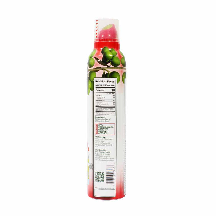 Mantova Italian Chili Flavored Extra Virgin Olive Oil Spray 8 oz.