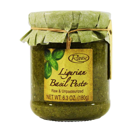 Premium Pesto with Riviera Basil D.O.P. from Italy by Ranise, 6.3 oz.