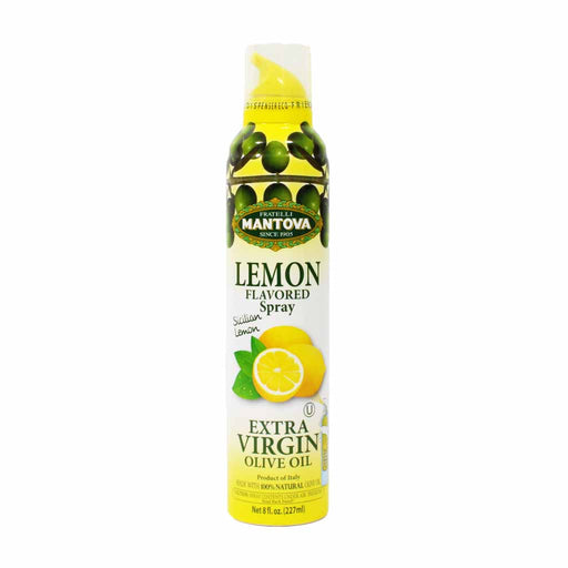 Mantova Sicilian Lemon Flavored Extra Virgin Olive Oil Spray 8 oz.
