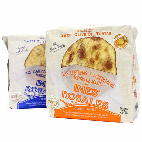 Ines Rosales Sweet Tortas & Sweet Orange Tortas de Aceite 2 Packs