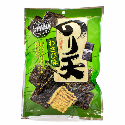 Noriten Wasabi Crackers with Seaweed by Daiko 2.8 oz