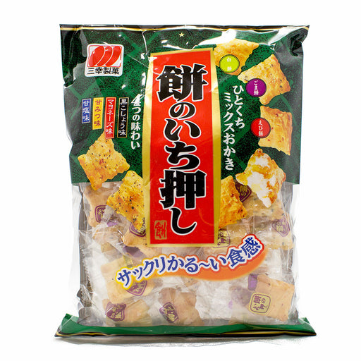 Japanese Rice Crackers, Three-Flavor Variety by Sanko, 2.9 oz (82 g)