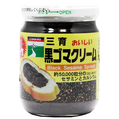Saniku Authentic Japanese Sweet Black Sesame Spread 6.7 oz. (189g)