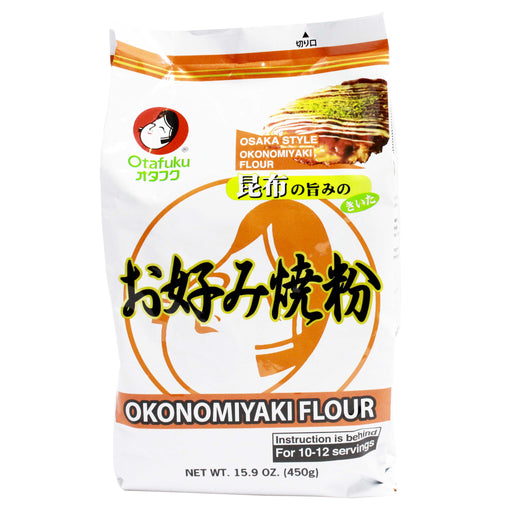 Okonomiyaki Flour for Japanese Pancake Mix by Otafuku, 15.9 oz (450 g)