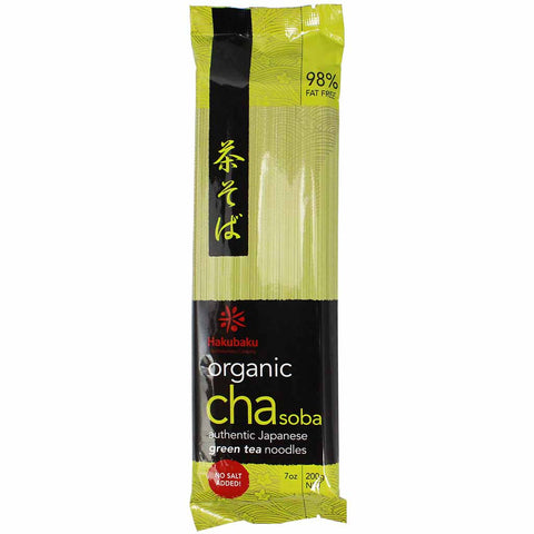 Organic Green Tea Cha Soba Noodles by Hakubaku 7 oz