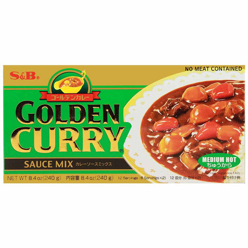 S&B Golden Curry Medium Hot Japanese Curry, 7.8 oz. (220 g)