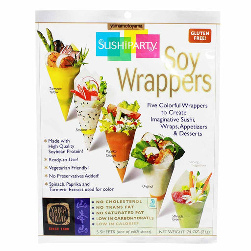 Yamamotoyama Sushi Party Large Sheet Soy Wrappers, 0.7 oz (20 g)