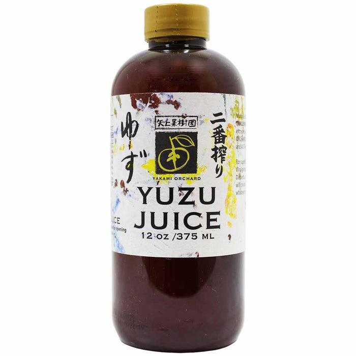 Yakami Orchards Japanese Yuzu Juice 100% Pure, 12 fl oz (375 ml)