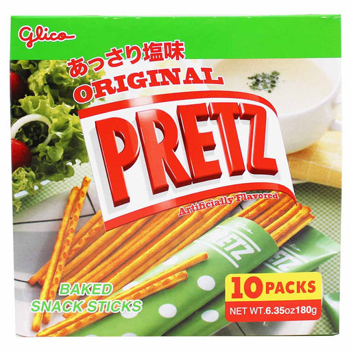 Glico - Pretz Original Baked Snack Sticks, 10 packs 6.3 oz. (180g)