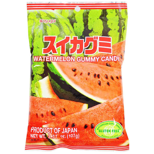 Kasugai Watermelon Gummy Candy, 3.7 oz (107 g)