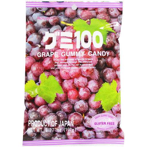 Kasugai Gummy Candy, Grape 3.7 oz (107 g)