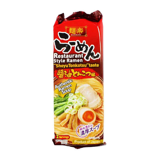 Menraku - Japanese Authentic Ramen Shoyu Tonkotsu, 6.7 oz.