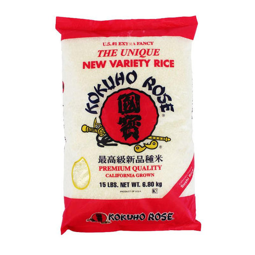 Kokuho Rose Premium Medium Grain Sushi Rice, 15 lbs (6.8 kg)