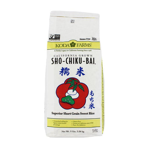 Sweet Rice Sho-Shiku-Bai Mochigome by Koda Farms, 5 lbs (2.26 kg)