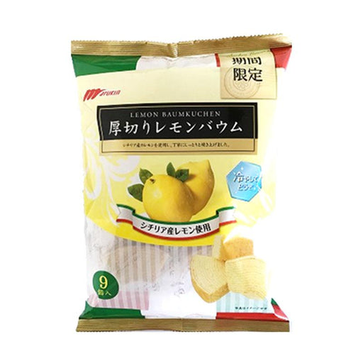 Lemon Baumkuchen Japanese Roll Cake Wedges by Marukin, 8.1 oz. (230g)