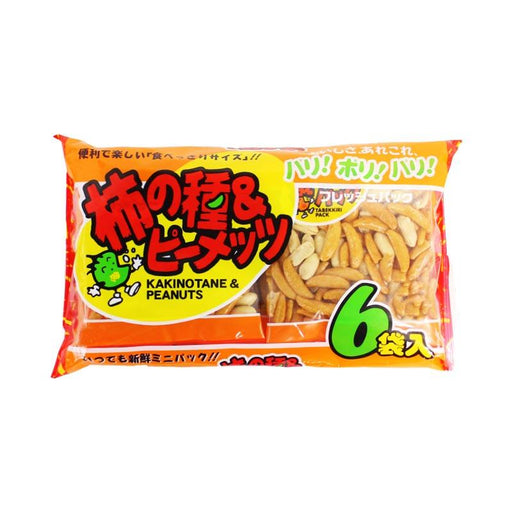 Japanese Rice Crackers with Peanut Mix, Kaki-pi by Kanazuru, 7.7 oz. (220g)