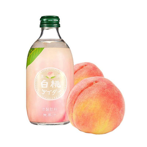 Tomomasu Japanese Soda Peach Cider in Glass, 10 oz. (300ml)