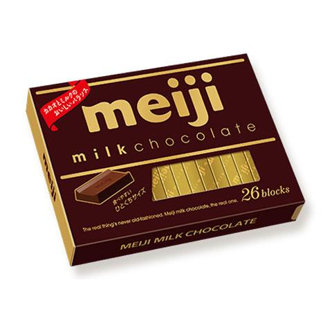 Meiji Chocolate Milk Chocolate from Japan, 26 Blocks, 4.23 (120g)
