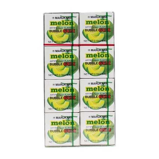 Marukawa Melon Bubble Gum, 8 Pack, 8 x 0.19 oz