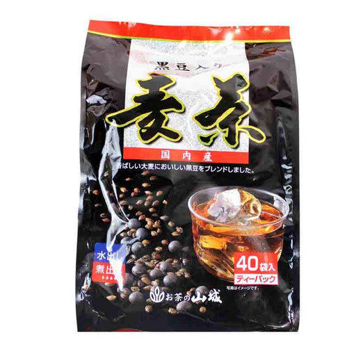 Japanese Roasted Barley Tea with Black Soybeans, Mugicha Tea Bags 14.1 oz (400g)