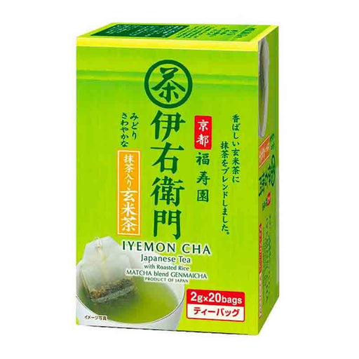 Japanese Matcha with Roasted Rice Blend Tea Bag Iyemon, 1.4 oz (40g)