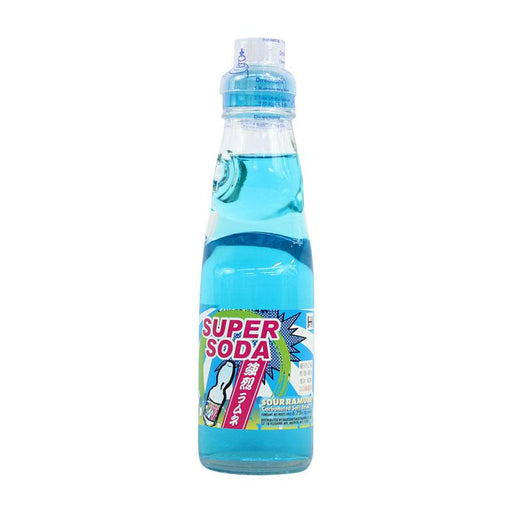 Ramune Soda Super Soda Sour Japanese Drink with Marble  by Fuji Soda, 6.8 fl oz (200mL)
