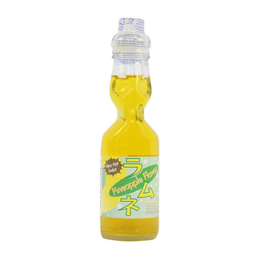 Ramune Soda Pineapple Japanese Drink with Marble by Fuji Soda, 6.8 fl oz (200mL)