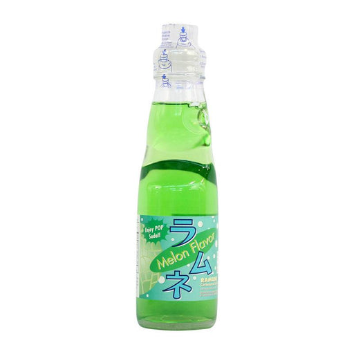 Ramune Soda Melon Flavor Japanese Drink with Marble by Fuji Soda, 6.8 fl oz (200mL)