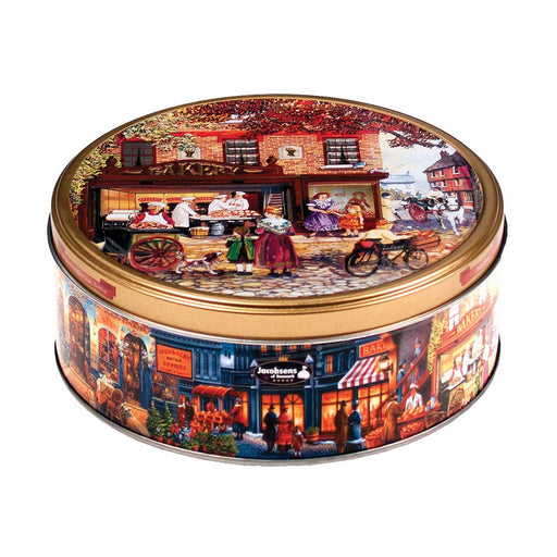 Jacobsens Danish Butter Cookies in European Holiday Tin, 5.3 oz (150 g)