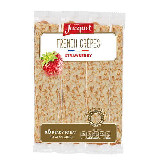 Jacquet Ready to Eat Strawberry French Crepes 6.7 oz. (192g)