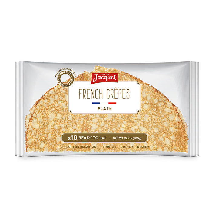 Jacquet Plain French Crepes 10.5 oz. (300g) - 10 Crepes