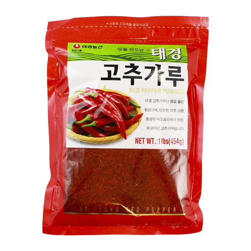 Korean Gochugaru Red Chili Flakes, Tae Kyung, 1 lb