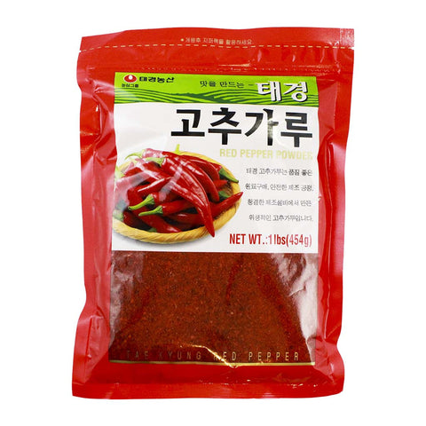 Korean Red Pepper Flakes Gochugaru by Tae Kyung 1 lb