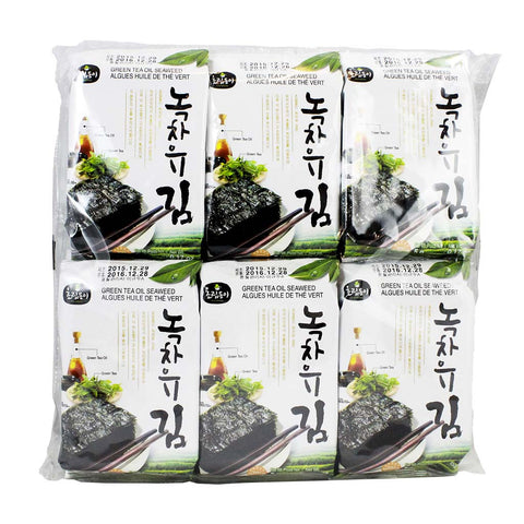 Green Tea Oil Seaweed Gim by Chorip Dong 12 Packs